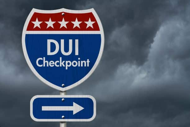 Sacramento County California  DUI Checkpoint Sign. sobriety checkpoints.